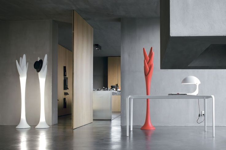 Furniture Decorating Ideas For Small Spaces Living Room Stylish Standing Design  Coat Rack Spiga In Modern Concrete House By Angelo Tomaiuolo Various Models  ...