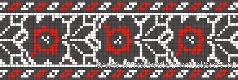 Схема украинской вышивки крестом. Орнамент вышивки Тернопольской области.