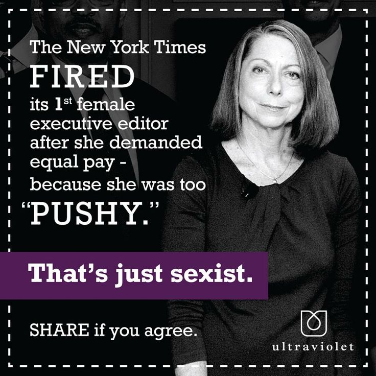 "The New Tork Times fired its 1st female executive editor after she demanded equal pay - because she was too ""pushy"". That's just sexist."