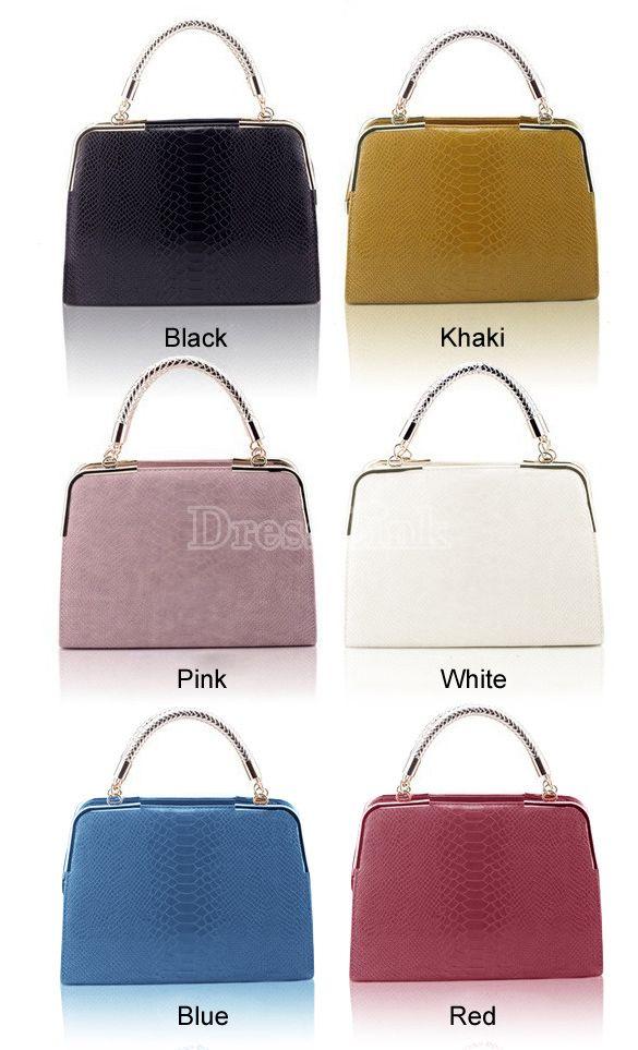 Women's Snake Pattern PU Leather Handbag / Shoulder Bag