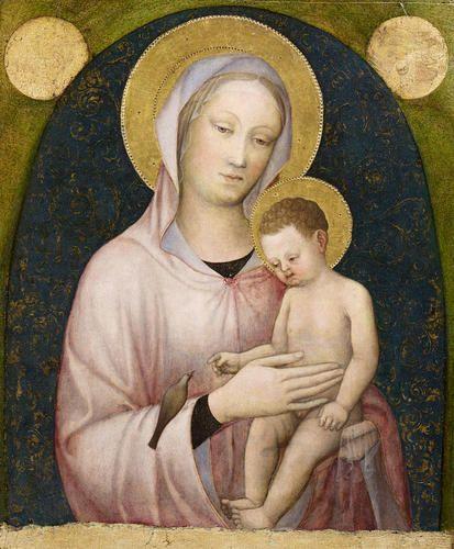 Jacopo Bellini - Madonna con Bambino - 1440 - Accademia Carrara di Bergamo Pinacoteca