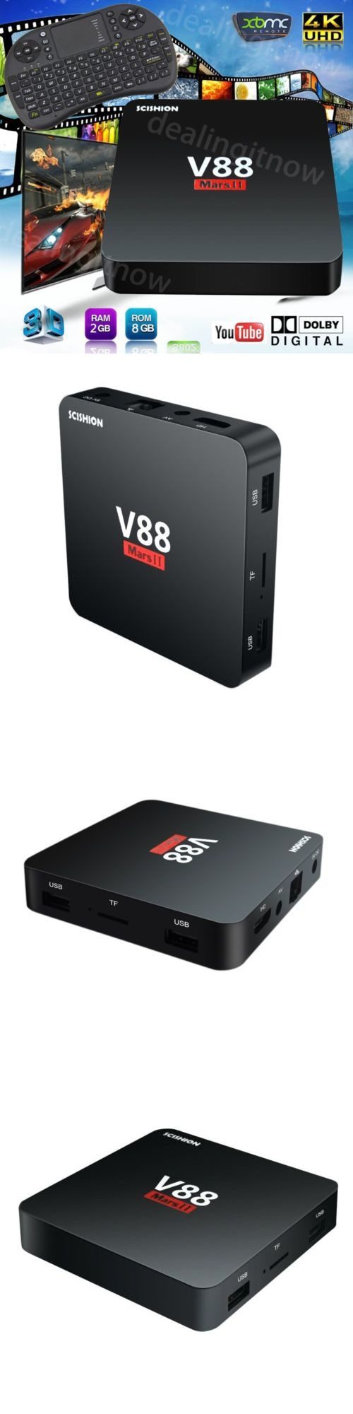 Cable TV Boxes: Mini V88mars Ii Rk3229 2G+8G 2.4Wifi 4K*2K Hd Smart Tv Box Android 6.0+Keyboard -> BUY IT NOW ONLY: $41.99 on eBay!