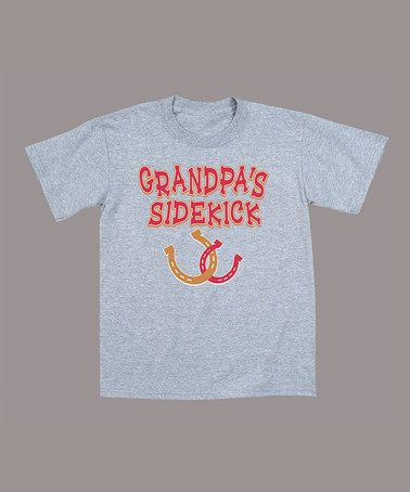 Take a look at this Athletic Heather 'Grandpa's Sidekick' Tee - Toddler & Boys by Country Casuals on #zulily today!
