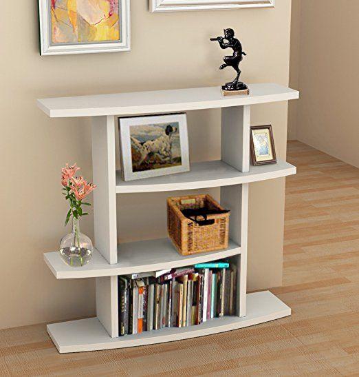 Convenience Concepts Northfield Wave Bookcase Console, White