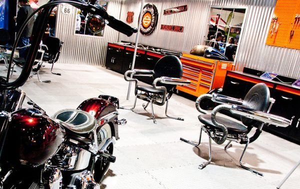 Motorcycle Furniture Made With Harley Davidson Parts