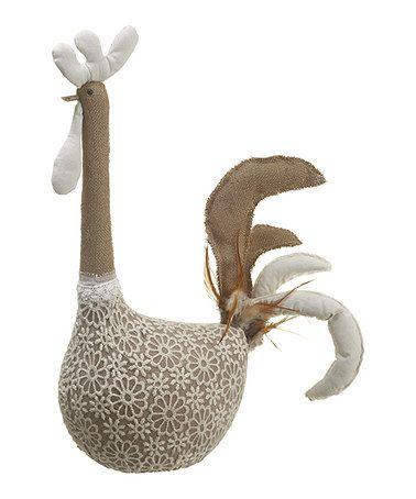 Look what I found on #zulily! White Decorative Chicken #zulilyfinds