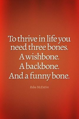 Don't replace your wishbone where your backbone ought to be!