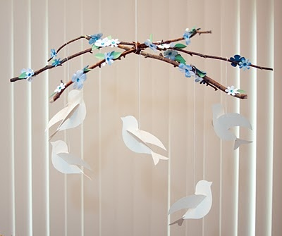 Twigs and birds.  Beautiful and easy!