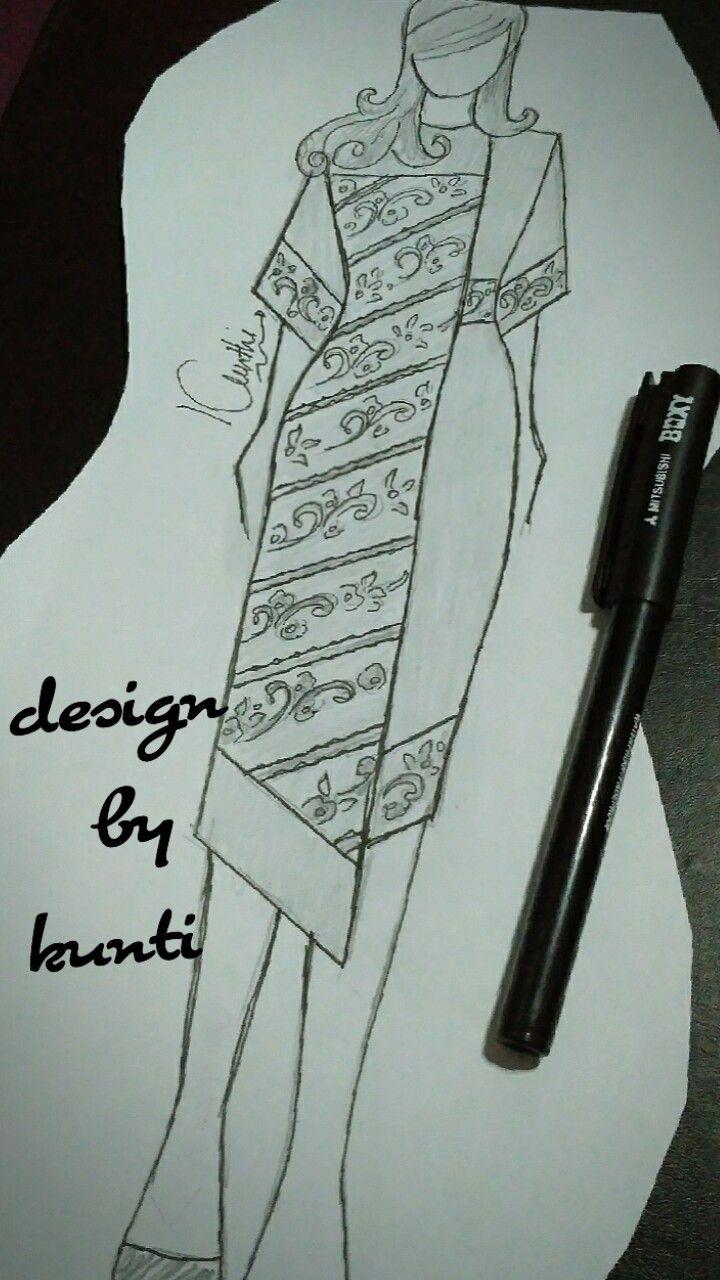 Batik Combination Dress