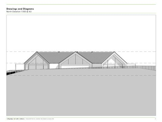 Hobsonville Point Early Learning Centre,North Elevation
