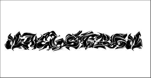 Original gangster fonts
