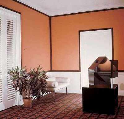 use painting tape to make a bold border in a room (david hicks)