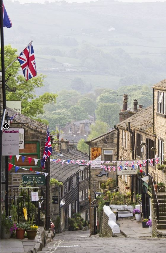 Haworth in Yorkshire. Made famous by the Bronte sisters who lived here and were inspired by the beautiful moorland scenery surrounding the village.