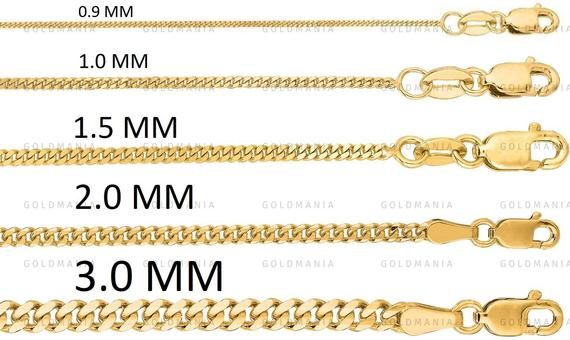 14k Solid Yellow Gold Gourmette Chain Necklace 16 30 Etsy Gold Chains For Men Real Gold Chains Chains Necklace