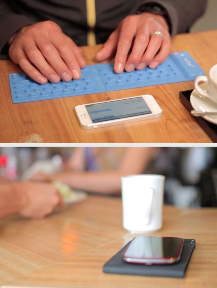 Easily work anywhere with this tiny rollable bluetooth keyboard.