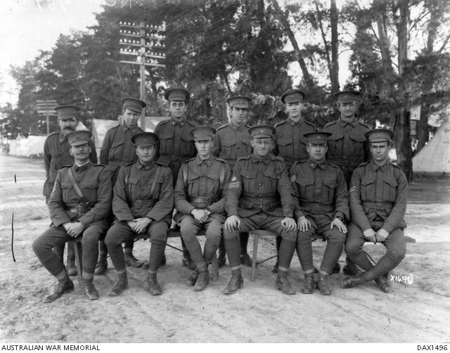 Portrait of non- commissioned officers, 6th Reinforcements, 57th Battalion.