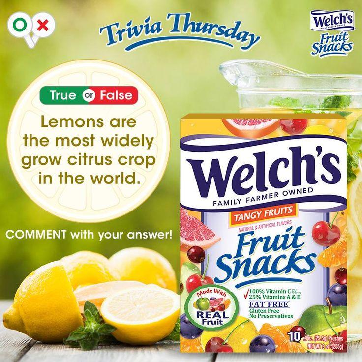 When life gives you lemons…eat fruit snacks!