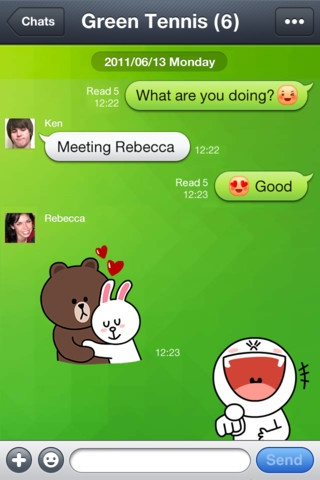 LINE app is a true competitor of WhatsApp. It does better