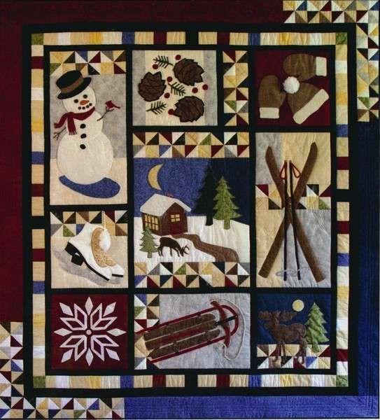 """Winter Memories""  quilt pattern by Kristine D. Poor, Poorhouse Designs"