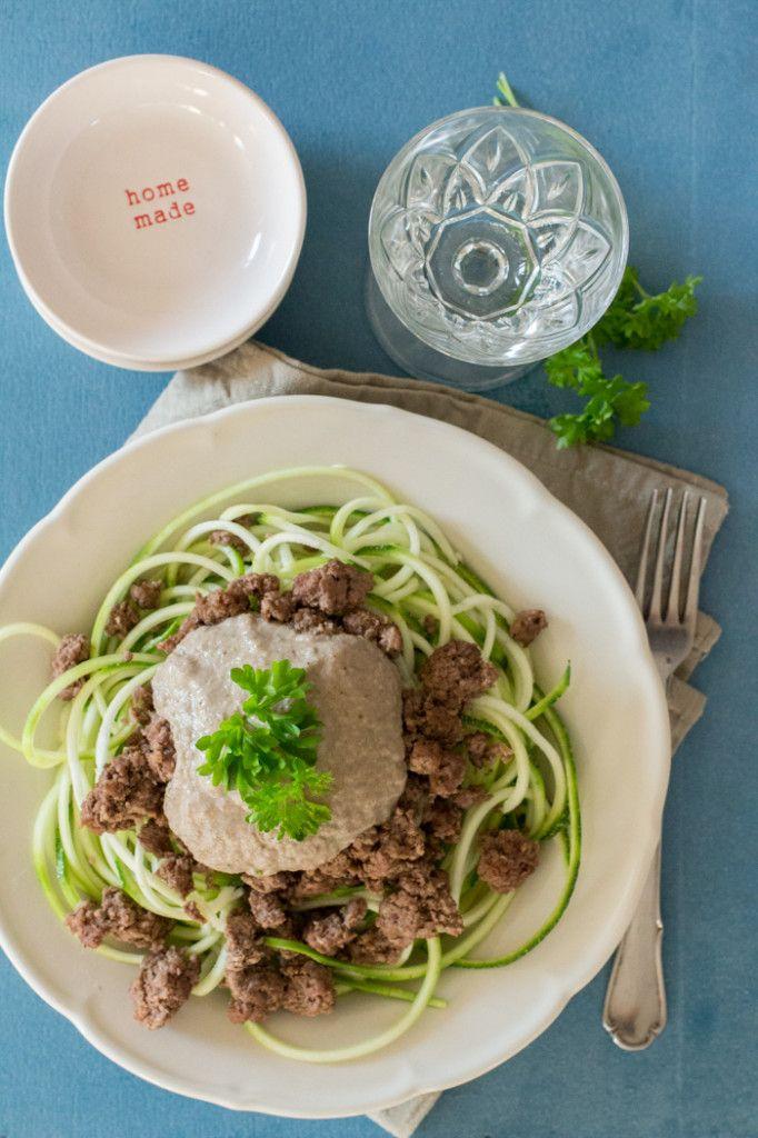 Paleo Pasta met Champignonroomsaus