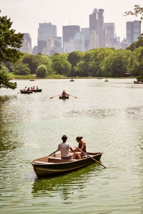 Row a boat under bow bridge - One of the best things to do in Central Park in the summer