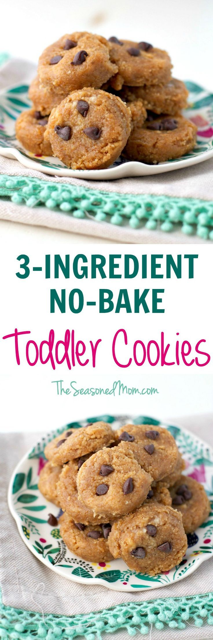With just graham crackers, banana, and peanut butter, these 3-Ingredient No Bake Toddler Cookies are a perfect make-ahead option for lunch boxes, picnics, and summer travel. #horizonorganic /horizonorganic/ #ad