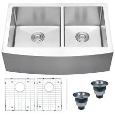 Stainless Steel Farmhouse Kitchen Sinks include all of the advantages of a vintage farm sink with the added benefit of a modern look that will match extremely well with those new stainless steel appliances you have in your home. The size of these stainless steel farm sinks and their front apron makes them easy and convenient to use. Stainless steel farmhouse sinks are durable and resist scratches and damages. Shopping for your next farm sink just got easier. The filters to the left on…