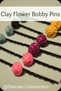 Clay Flower Bobby Pins {Tutorial}