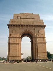India Gate: At the heart of Delhi, built as memorial to the Indian soldiers who died in World War I and the Afghan Wars.