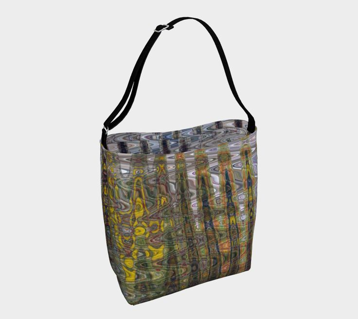 "Day+Tote+""Abstract+Daisies""+by+Honey+Myrtle+Studio"