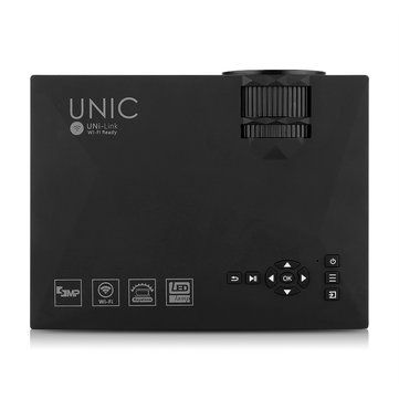 UNIC UC46 LED Projector 1200LM 1080P HD WIFI VGA HDMI SD AV USB Support Miracast DLNA Airplay Home Theater Cinema Sale - Banggood.com
