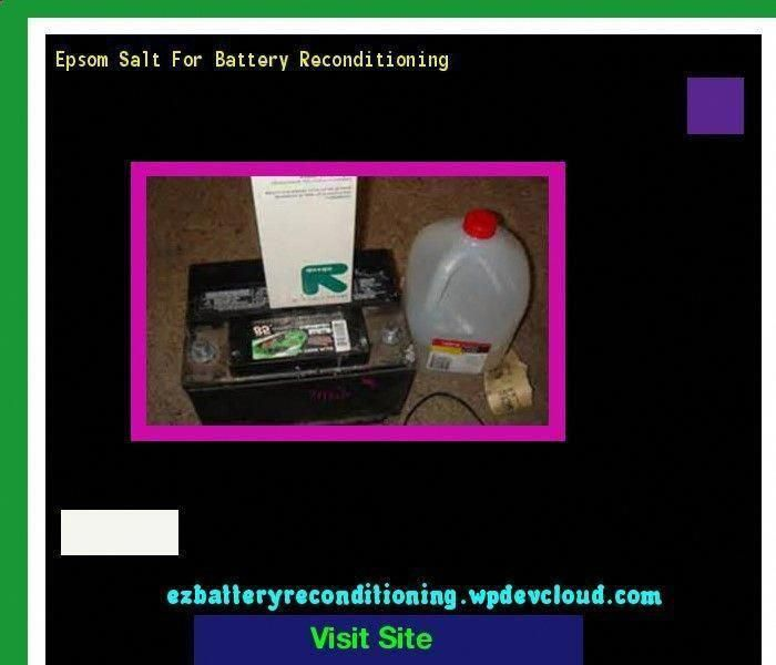Recon Battery Charger Ezbatteryreconditioningmethodfree Reconditionoldbatteries Battery Epsom Salt Recondition Batteries