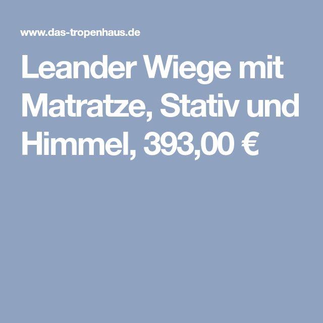 Leander Wiege mit Matratze, Stativ und Himmel, 393,00 €