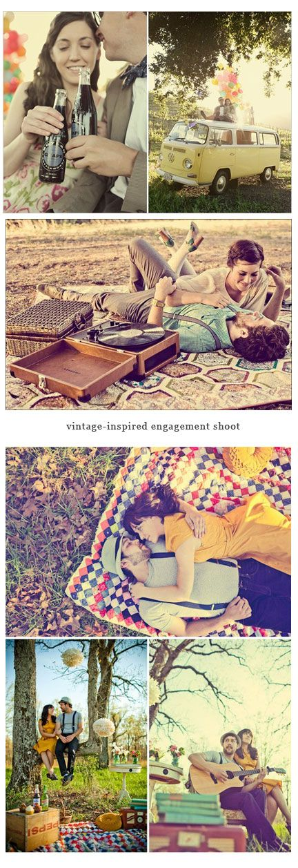 Oh my gosh, yes please! - Vintage Inspired Engagement Photo shoot