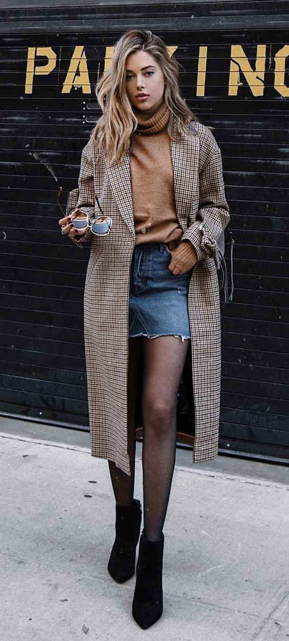 9 cool ways to combine miniskirt with boot