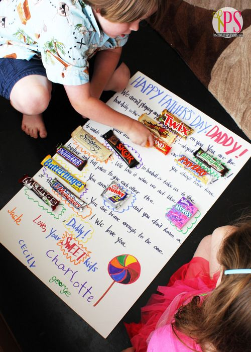 Assorted candy bars/packages of candy White foam board Pencil Poster ...
