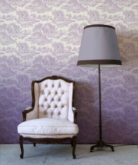 Country Toile Lilac Ombre Wallpaper from DigetexHOME.com