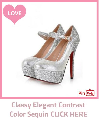 Classy Elegant Contrast Color Sequin Strap Platform High-heeled Shoes. Check out at http://pinverts.com/Classy-Elegant-Contrast-Color-Sequin-CLICK-HERE_8h1f8h5