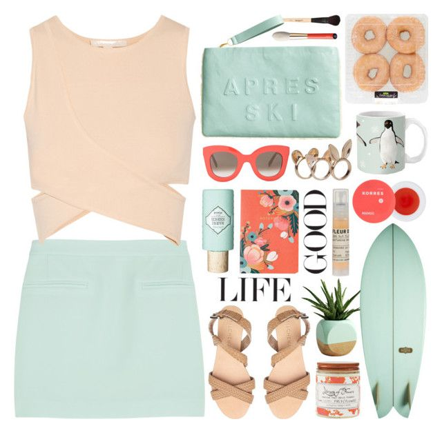 """mint green summer"" by jesuisunlapin ❤ liked on Polyvore"