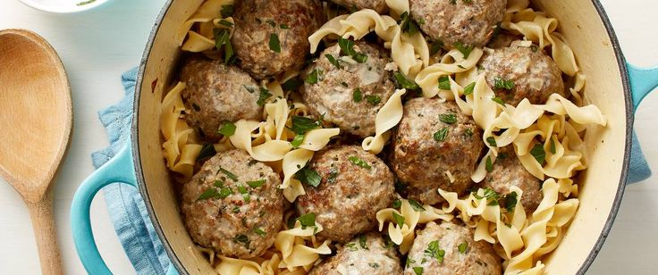 These easy, creamy Swedish meatballs with noodles are pure comfort food and -- what's even better -- they come together in one pot.