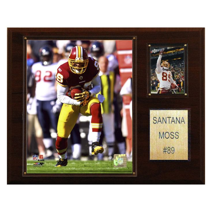 NFL 12 x 15 in. Santana Moss Washington Redskins Player Plaque - 1215SMOSS