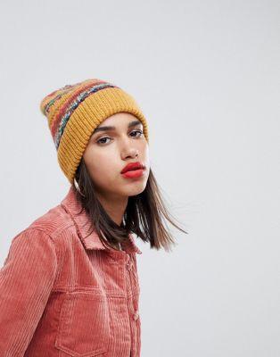 d18ae93060f08e DESIGN fairisle wool mix knit beanie in 2019   wish list   Knit ...