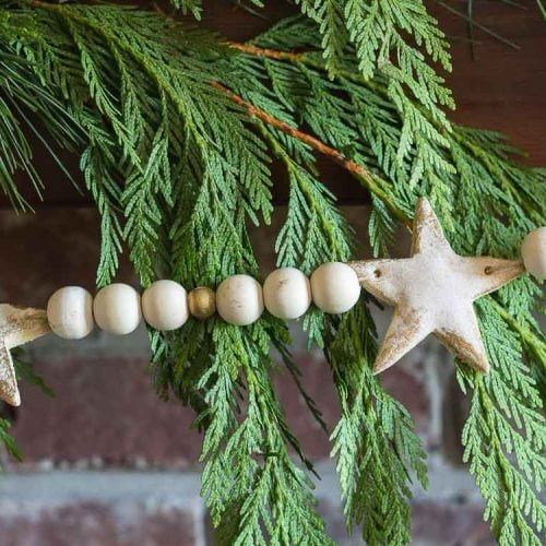 Salt Dough Christmas Garland With An Easy Rustic and Country Feel