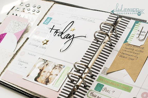 How I use the new Heidi Swapp sticker set (found at Michaels stores) to decorate my Memory Planner | @MaggieWMassey for @HeidiSwapp
