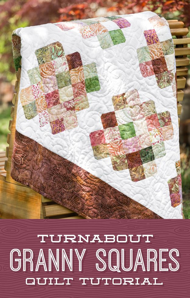Turnabout Granny Squares Quilt Granny Square Quilt Quilts Square Quilt