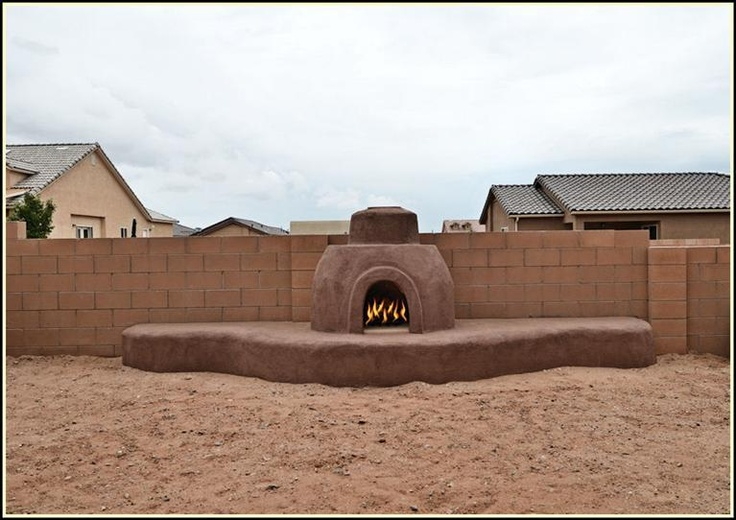 Outdoor Kiva Fireplace Home For Sale 800 Vargas Bernalillo New Mexico Backyard Dreamin