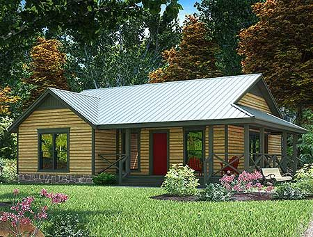 17 best images about rugged and rustic house plans on for Metal roof home plans