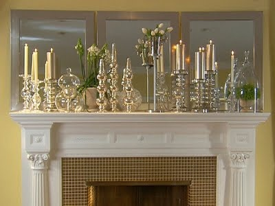 Glam: Holiday, Candle, Decor Ideas, Fireplace Mantels, Decorating Ideas, Mantel Idea, Living Room, Mantles