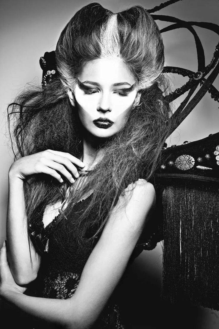 Future look. Wolf woman ;) Makeup. Photoshoot.