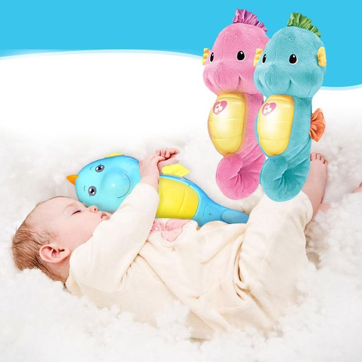 Seahorse Light and Music Antenatal Training Plush Toys Help Sleep For Babys